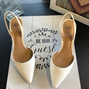 White Pointed Toe Heels New